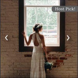 BoHo vintage lace Wedding dress
